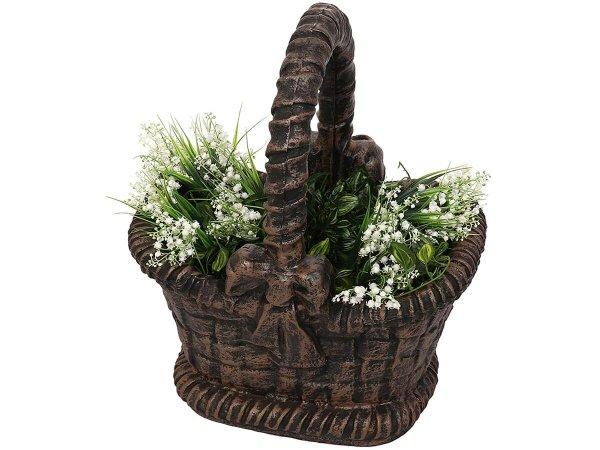 Кашпа Кошница за декорация на двора и градината