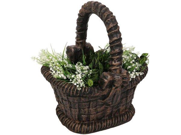 Саксия форма на декоративна кошница за градината