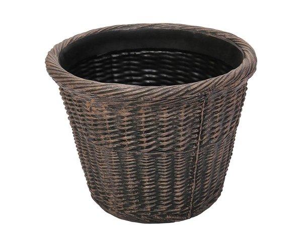 Саксия - Кашпа за цветя имитираща плетка и ратан