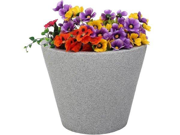Саксия за цветя за дома и двора - Имитираща гранит