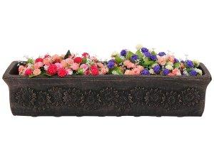 Продълговато дълго балконско сандъче за цветя и подправки