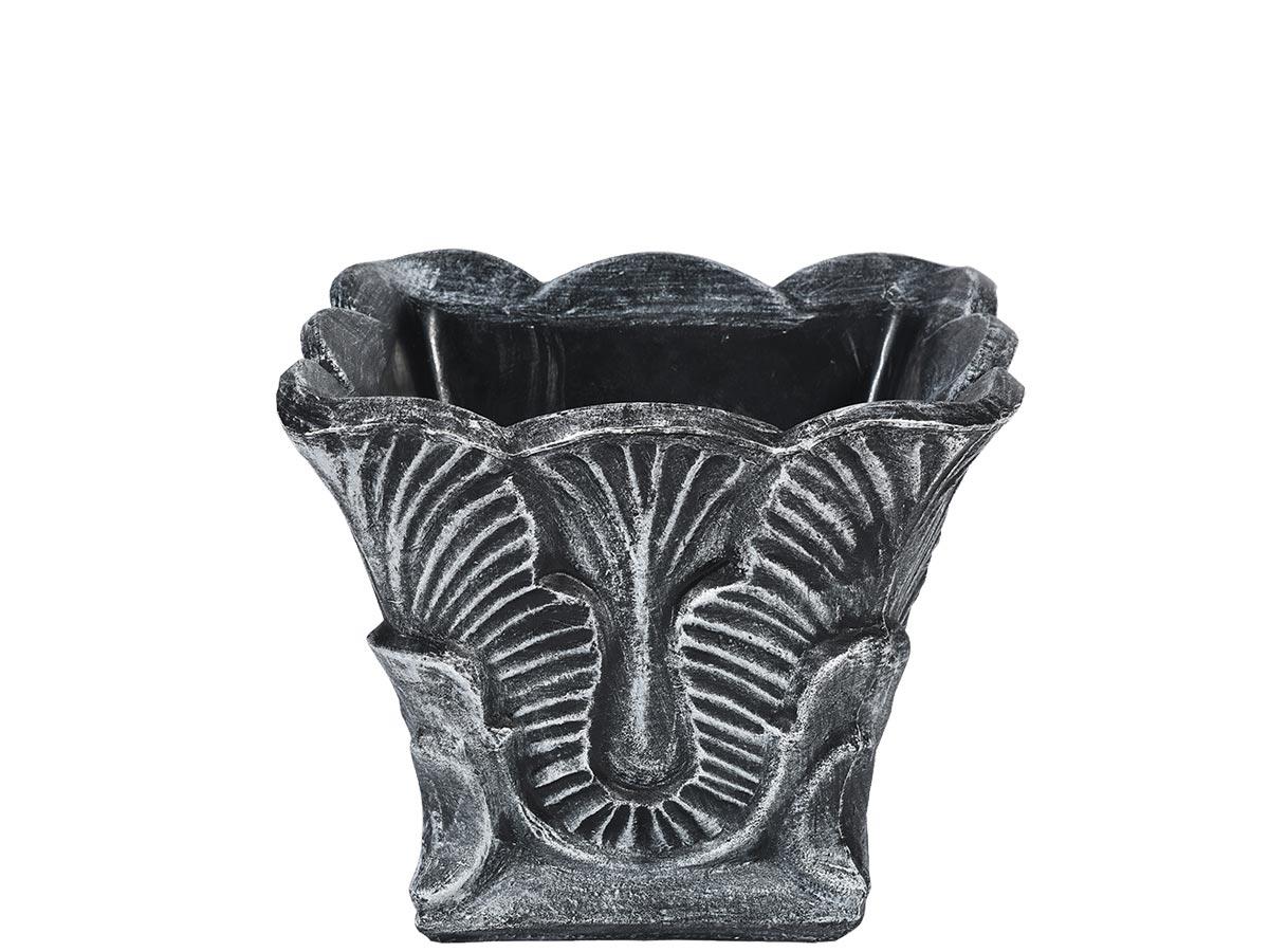 saksii imitaciya na beton za cvetya i zavedeniya