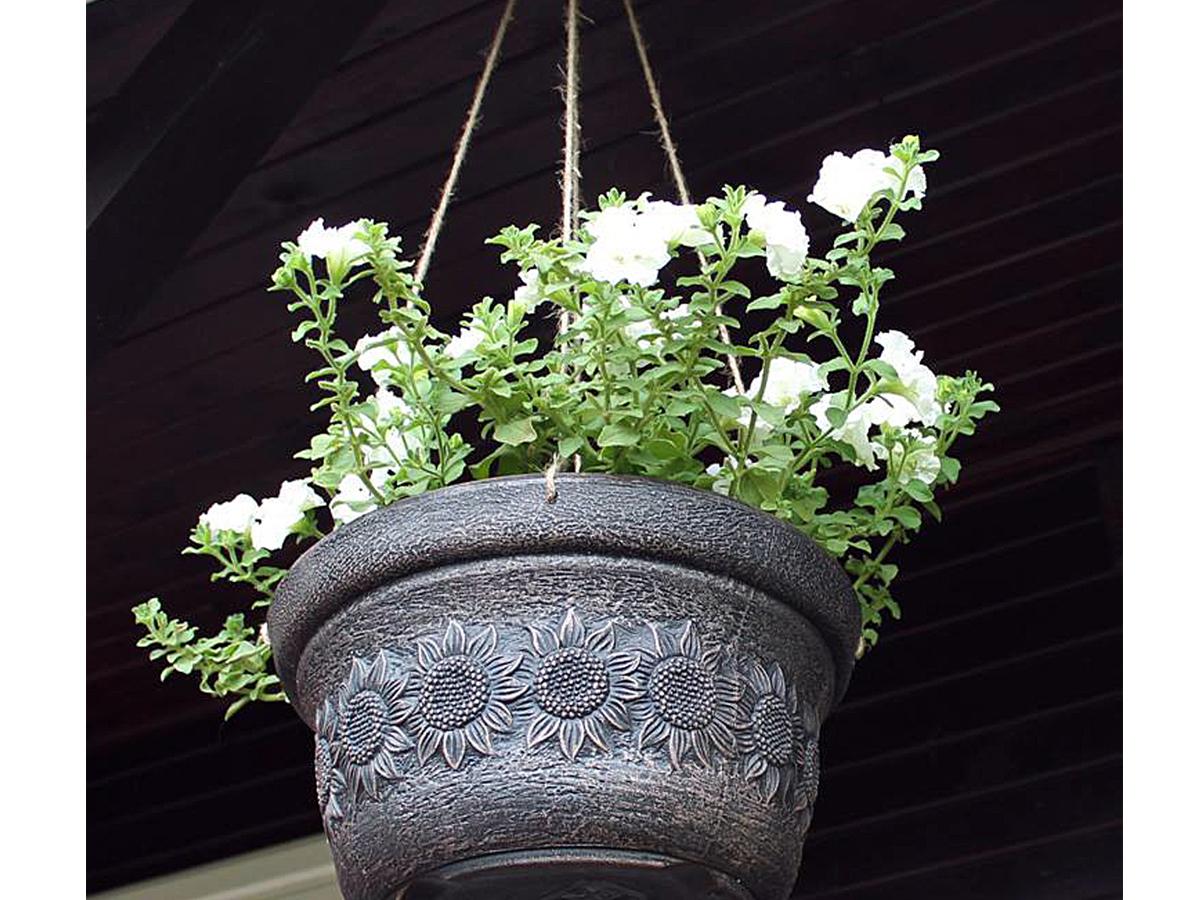 Висяша саксия за цветя идея