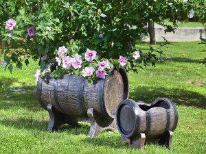 Саксии, сандъчета и декорации