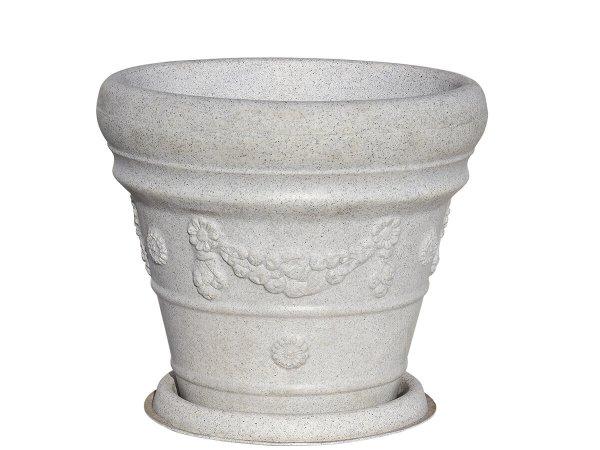 Луксозна италианска саксия за интериорна декорация - Саксия с подложка