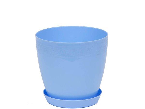 Модерна кръгла саксия с чинийка,