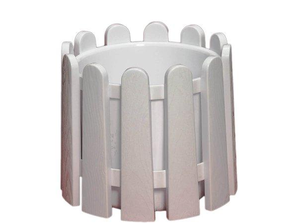 бяла пластмасова саксия за дома и заведения