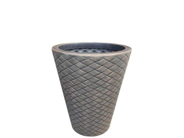 саксия кашпа за цявтя и растения имитира плетка и кошница