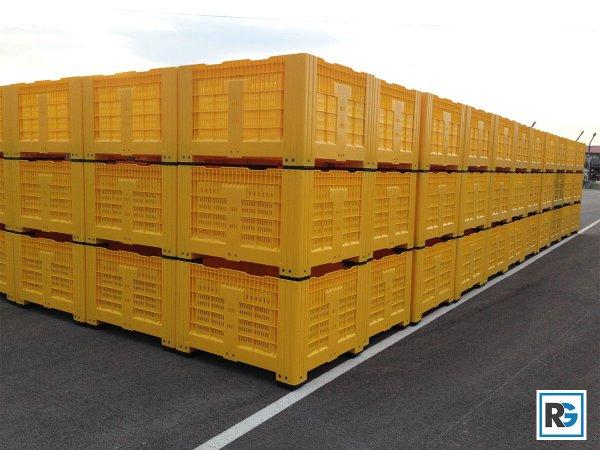 БОКС ПАЛЕТ за транспорт и сърхранение на плодове дини и зеленчуци