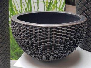 Декоративна кашпа имитация на плетена кошница - Саксия knit от РОТО