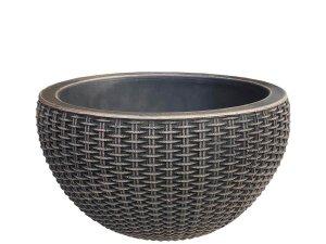 Саксия бамбус Knit имитация на ратанова кошница