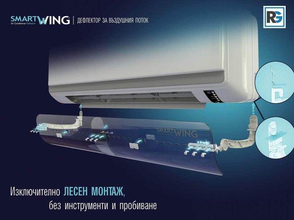 Air Conditioner Deflector Smart Wing - Крило за въдушна струя Смарт