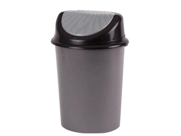 Дълготраен Пластмасов Кош за отпадъци с люлеещ капак Кош за боклук 32 литра