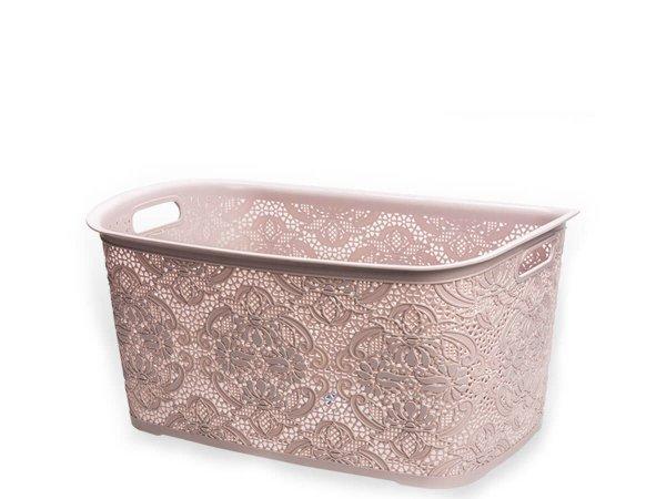 Пластмасова кошница за дрехи тип Дантела имитираща плетка