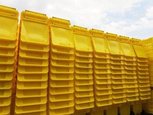 Пластмасови кофи за отпадъци - котейнери за разделно събиране на отпадъци