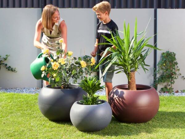 Екстериорни италиански кашпи за цветя за градината тераса и двор